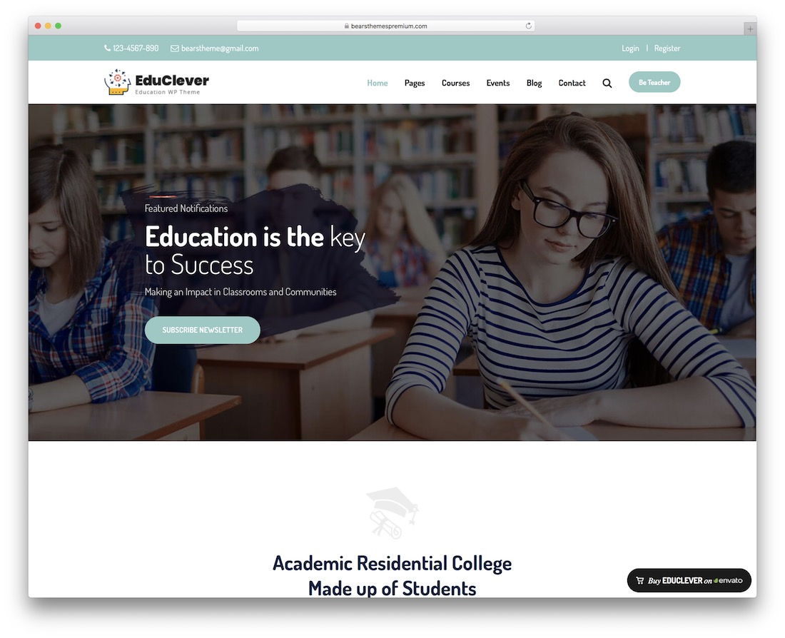 27 Best Students-Friendly School Website Templates 2019