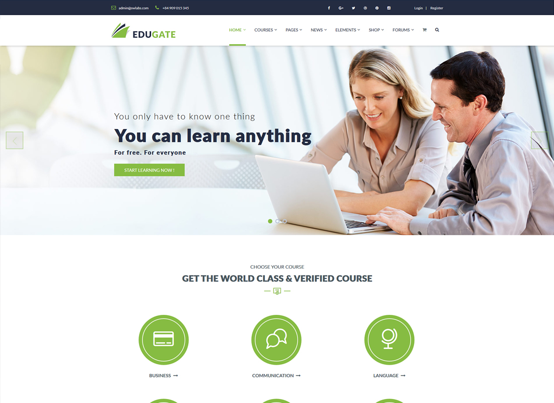 Edugate Education | Education WordPress Theme