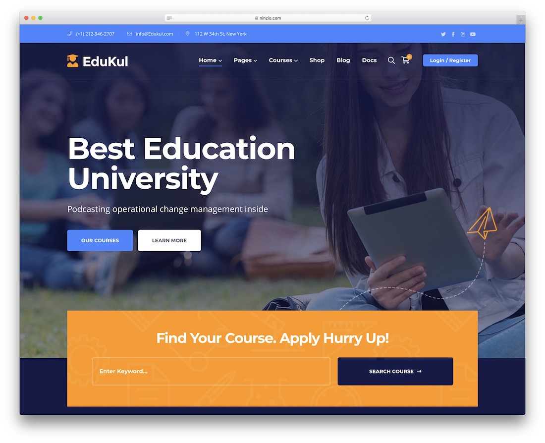 edukul online course wordpress theme