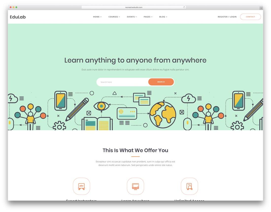 edulab 학교 웹 사이트 템플릿