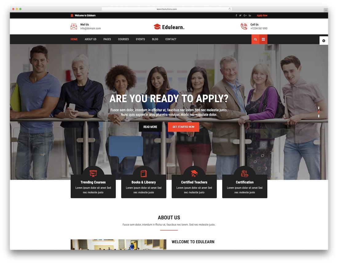 Edulearn School Website Template