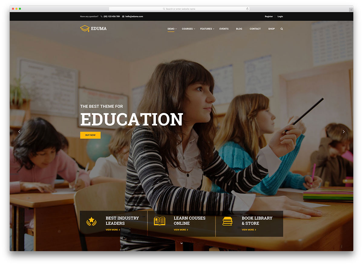 15 lms learning management system wordpress themes 2018 colorlib eduma fullscreen lms online course theme fandeluxe Image collections