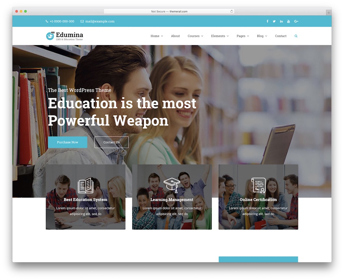 edumina membership wordpress theme