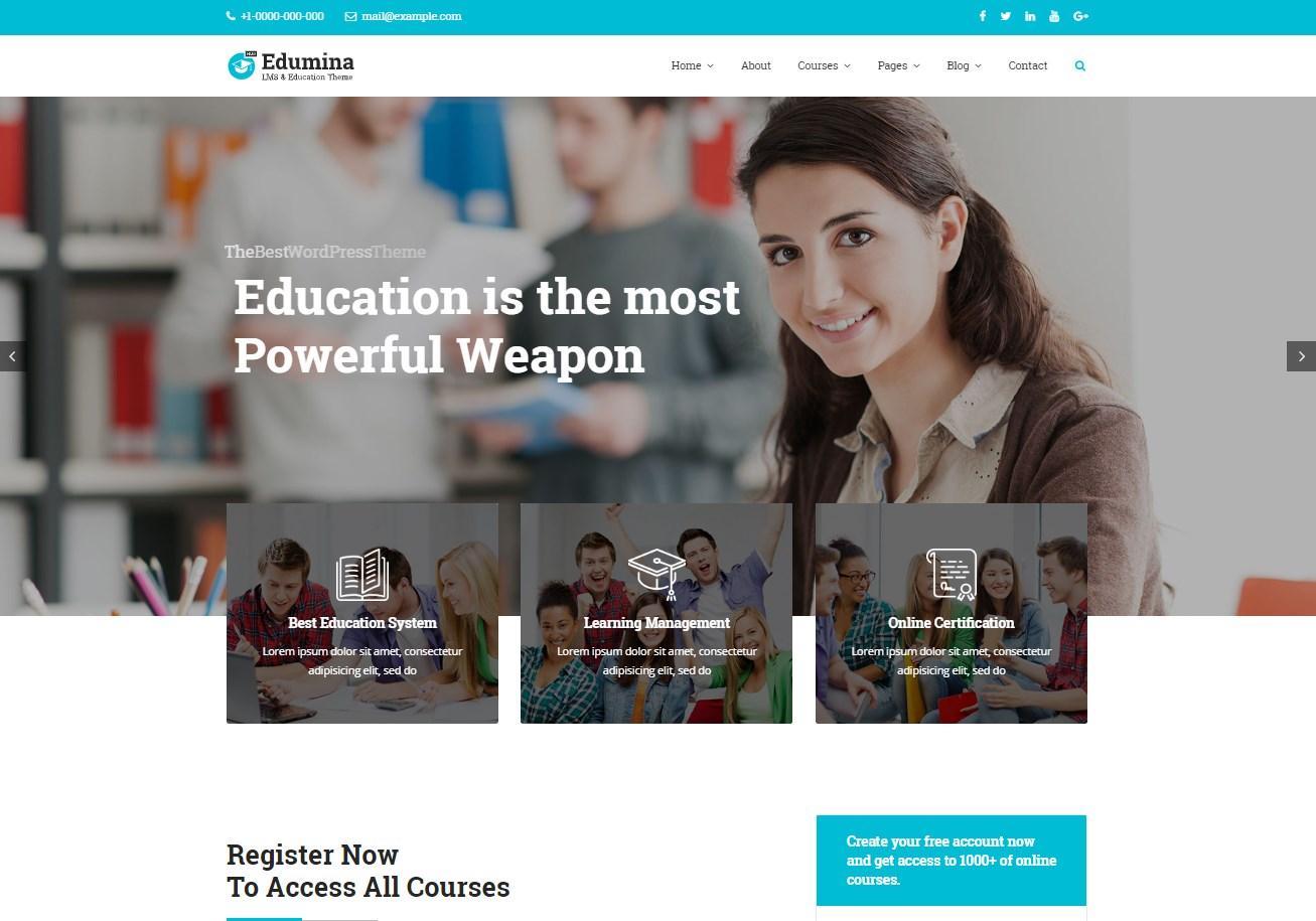 Edumina | LMS & Education WordPress Theme