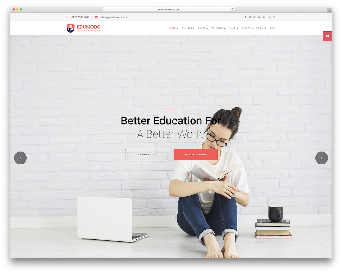 edumodo education wordpress theme
