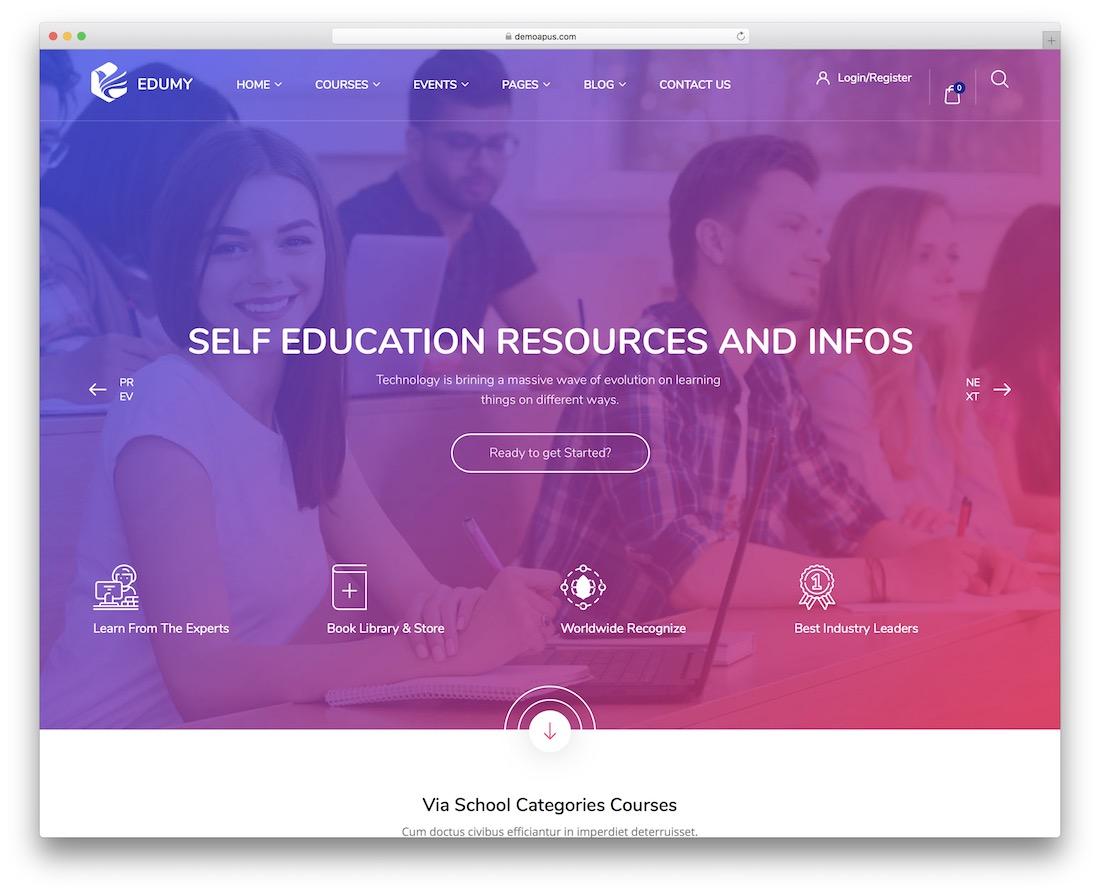 edumy education website template