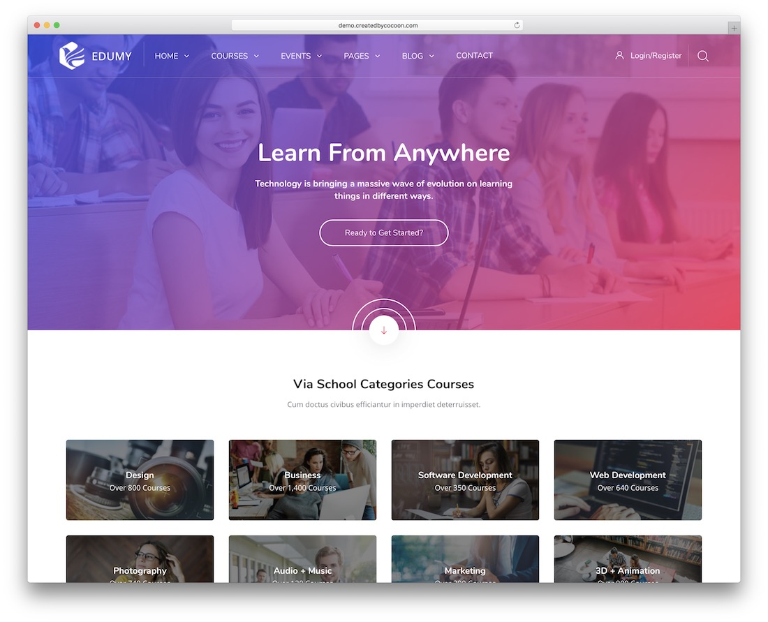 edumy moodle bootstrap template