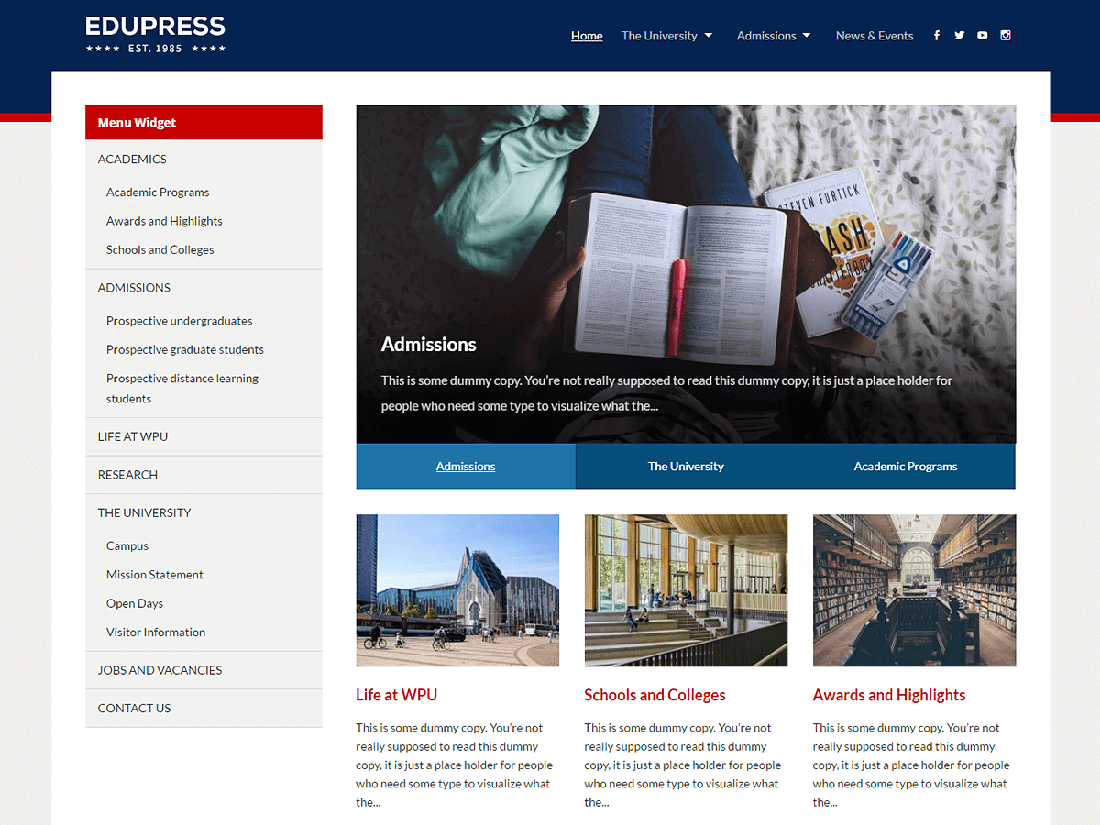 EduPress WordPress Education Theme