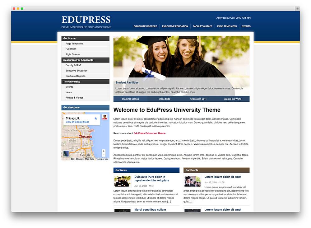 edupress - classic university theme