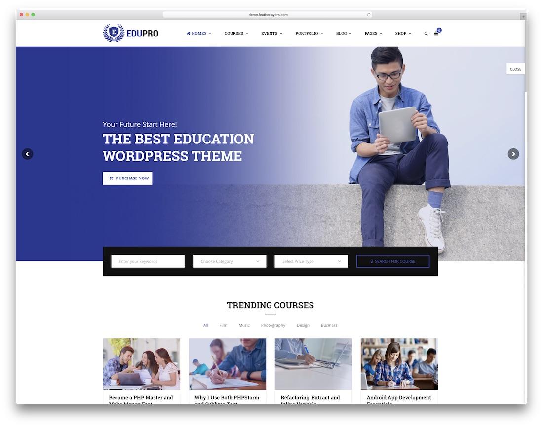 edupro website template