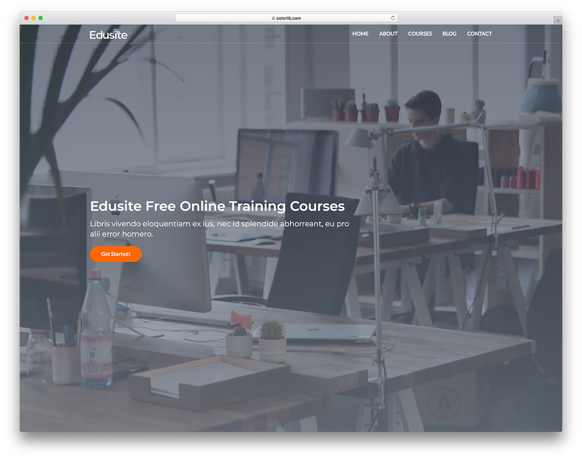 edusite free mobile-friendly website template