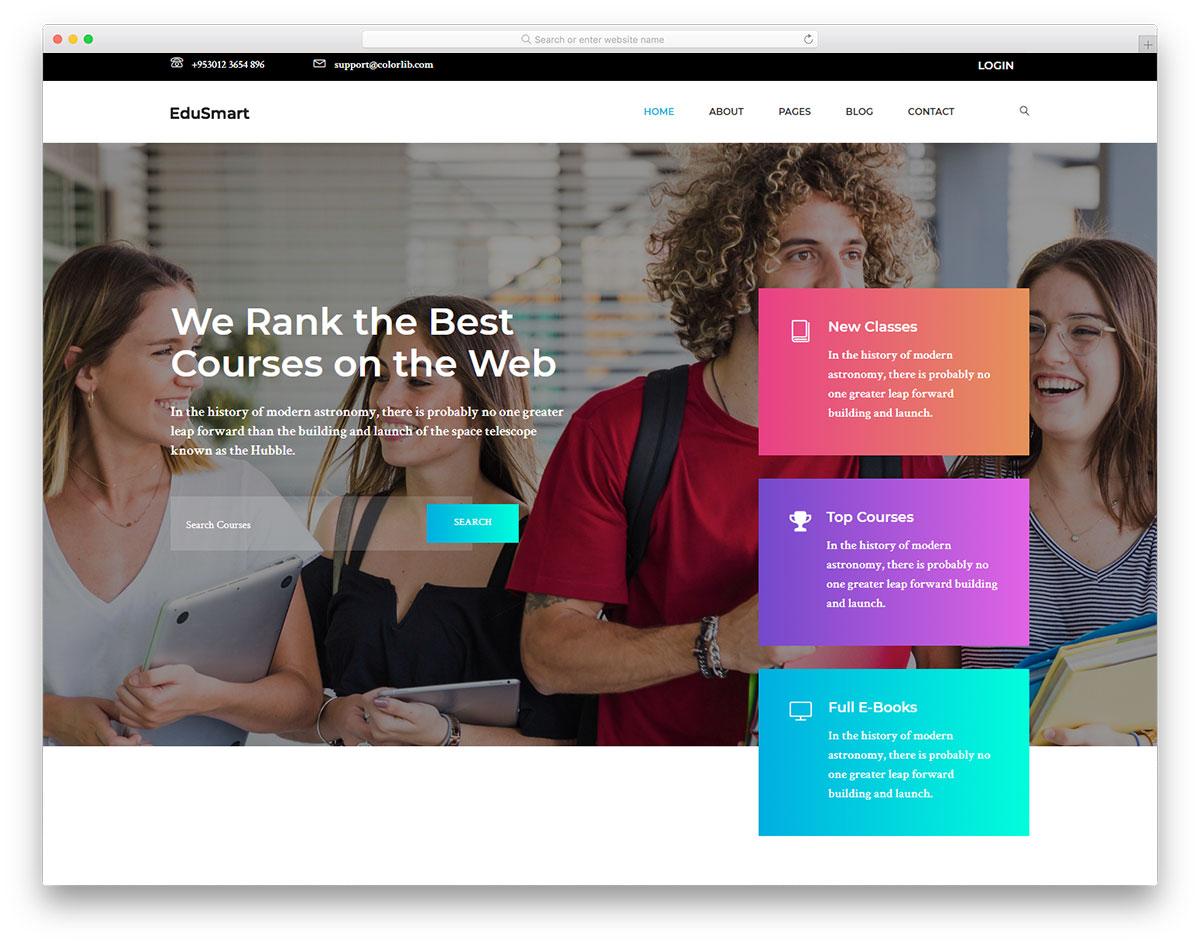 edusmart free template