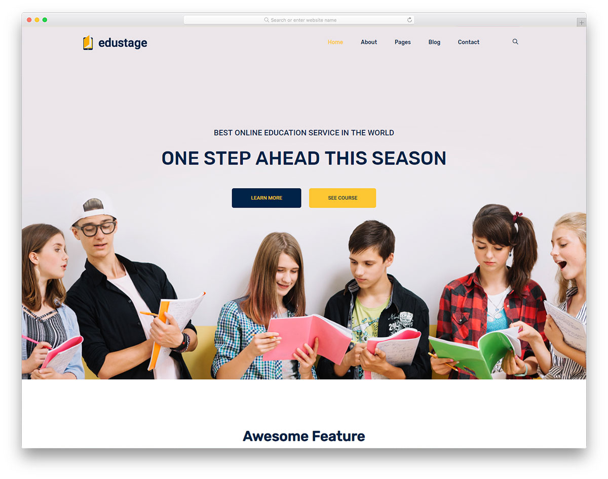 Most Popular Free Education Website Templates 2019 Colorlib