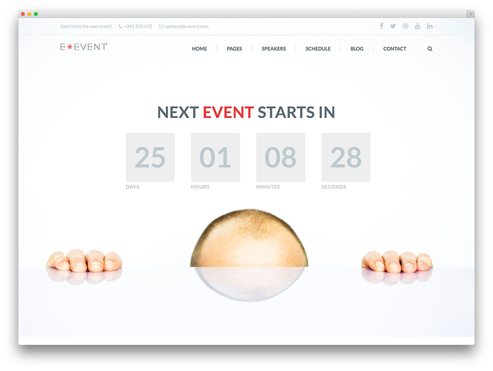 E-event - minimal event theme