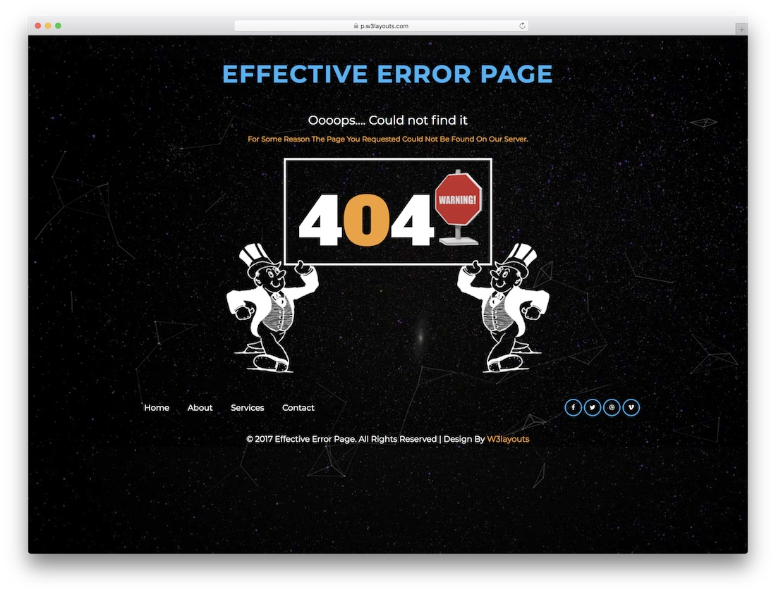 effective free 404 error page template