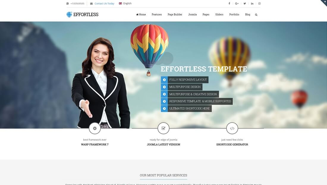 effortless joomla business template