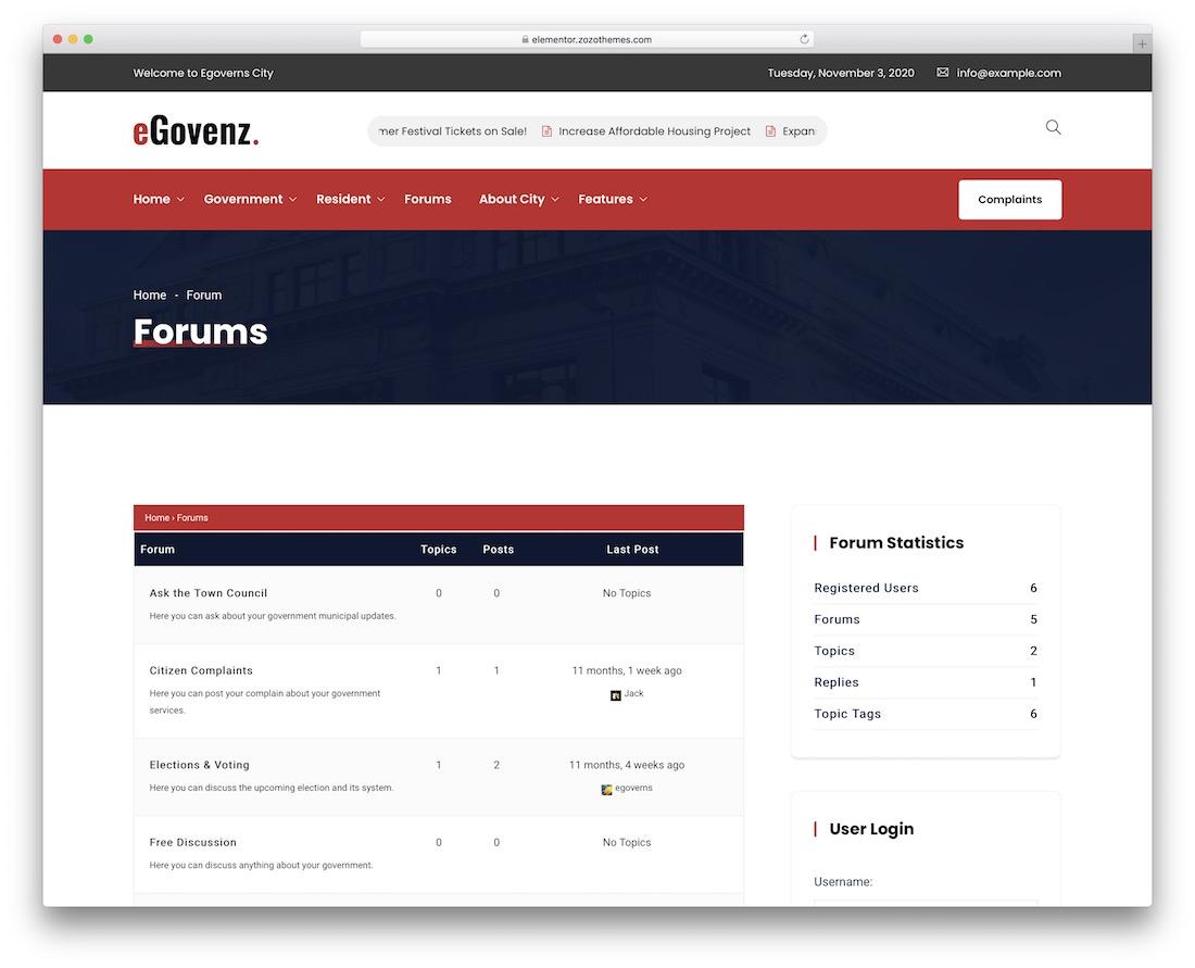 egovenz forum theme