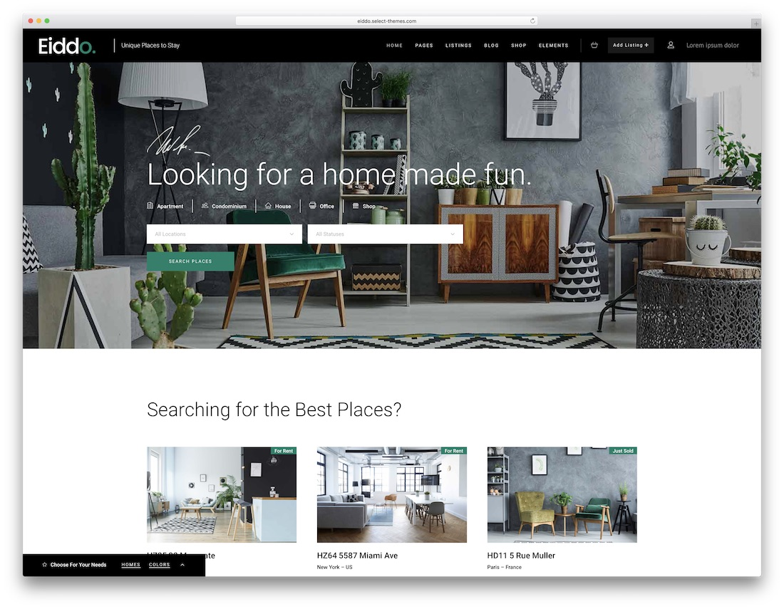 eiddo real estate wordpress theme