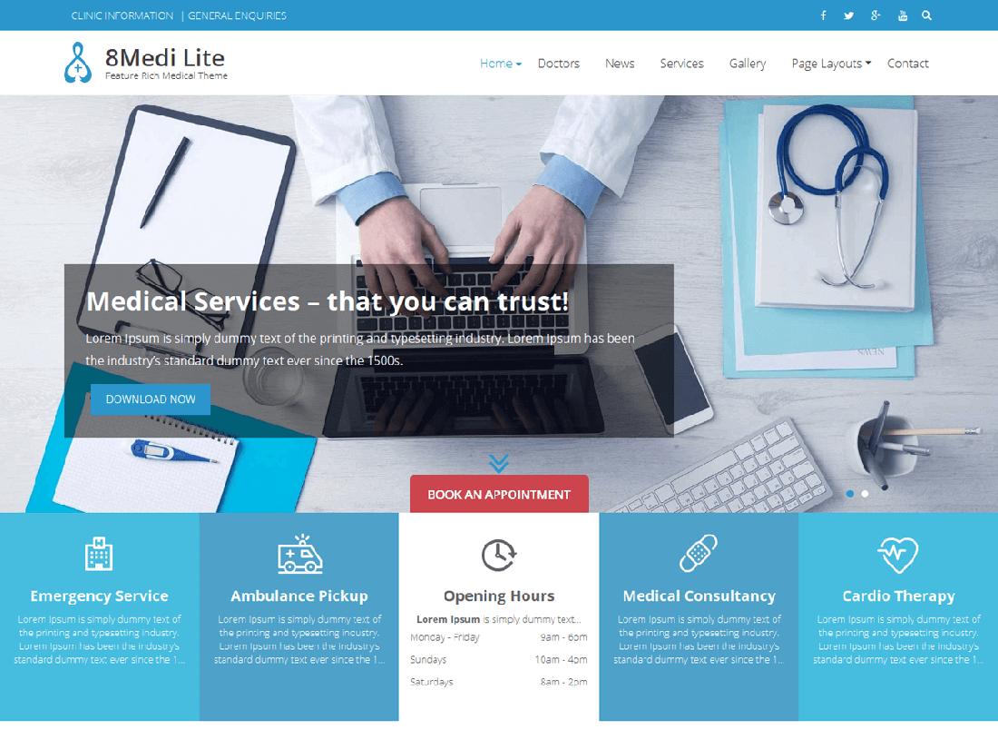 Eightmedi Lite Medical WordPress Theme