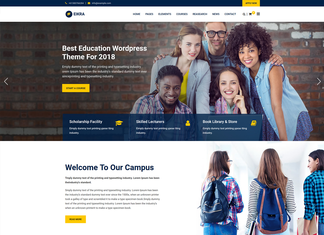 Eikra Education | Education WordPress Theme