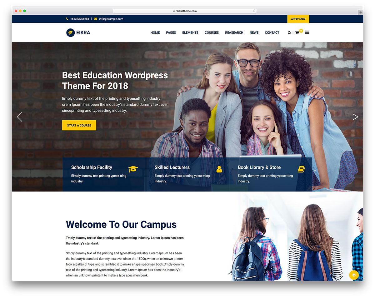Eikra - theme wordpress educatif