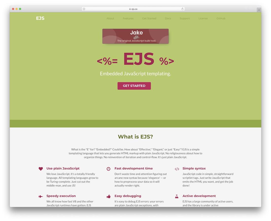 ejs embedded javascript templating