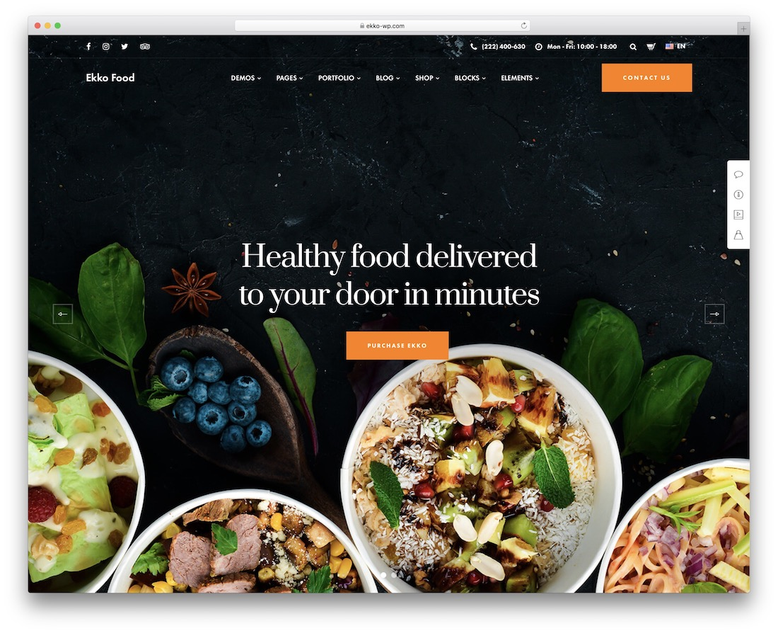 ekko catering wordpress theme