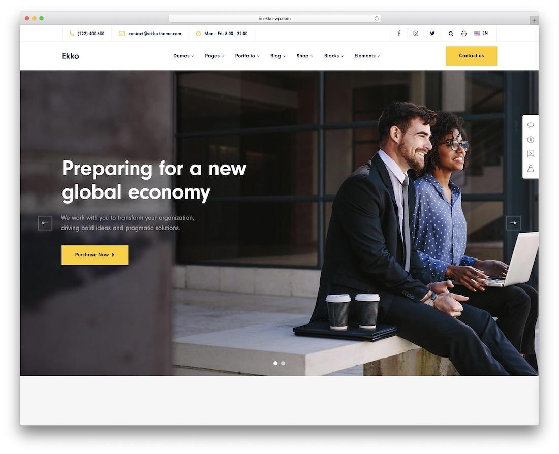 ekko corporate wordpress theme