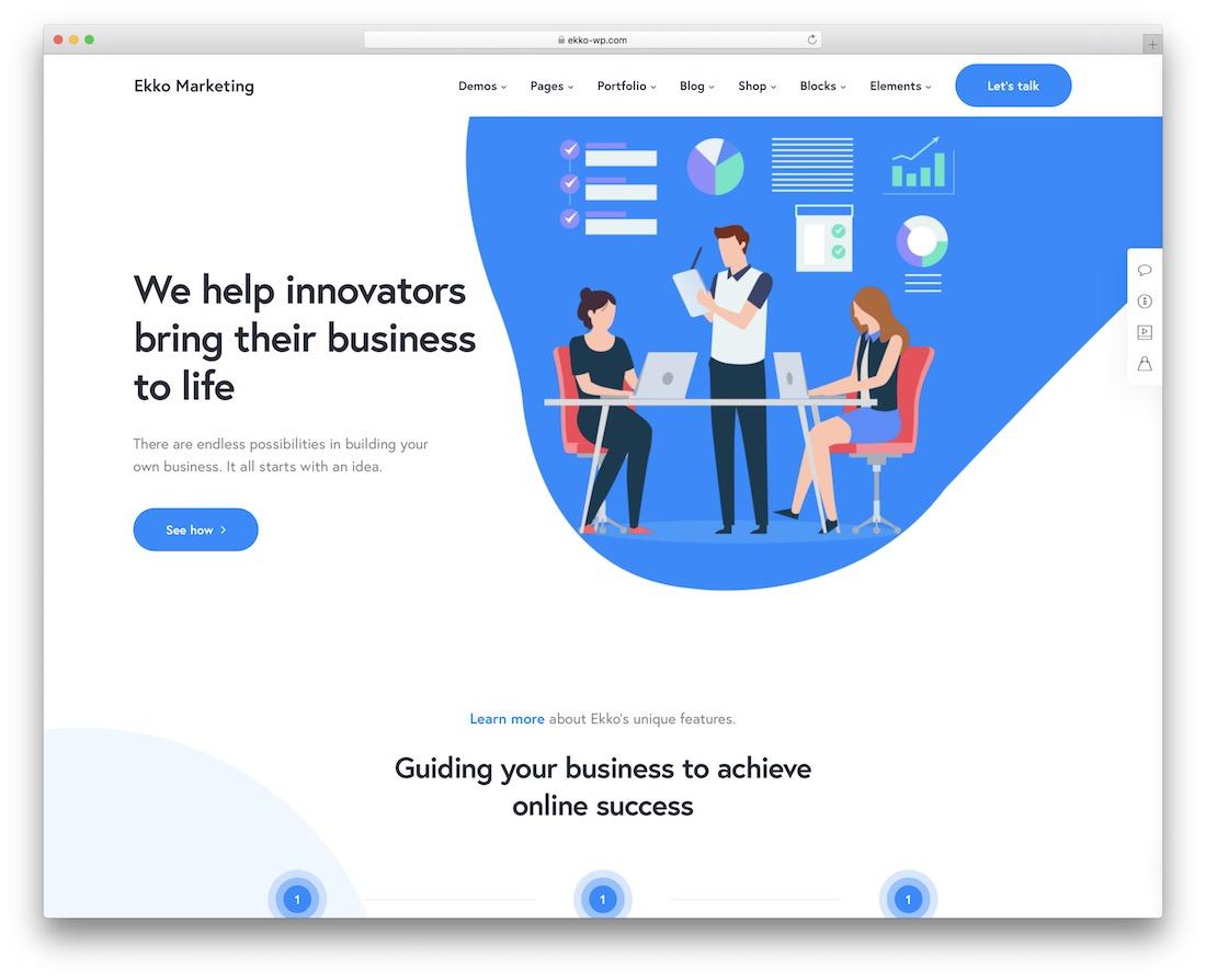 ekko digital marketing wordpress theme