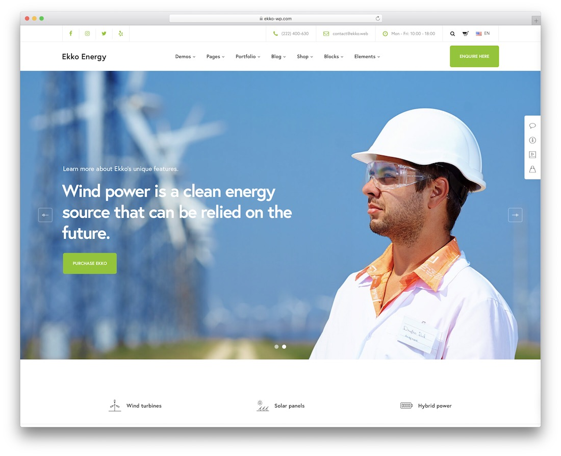 ekko ecology environmental wordpress theme
