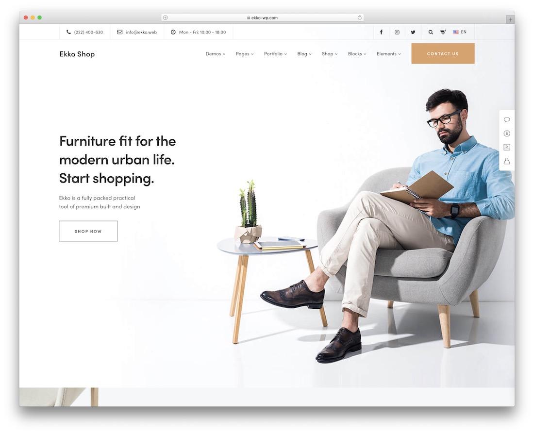 ekko furniture wordpress theme