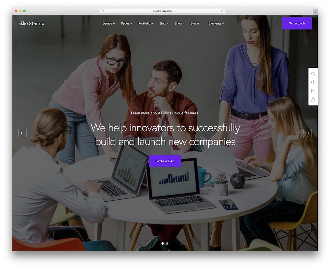 ekko it company wordpress theme