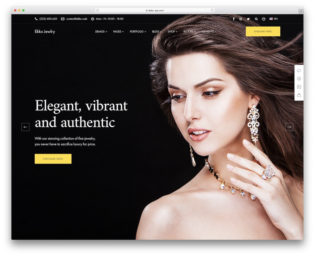 ekko jewelry wordpress theme