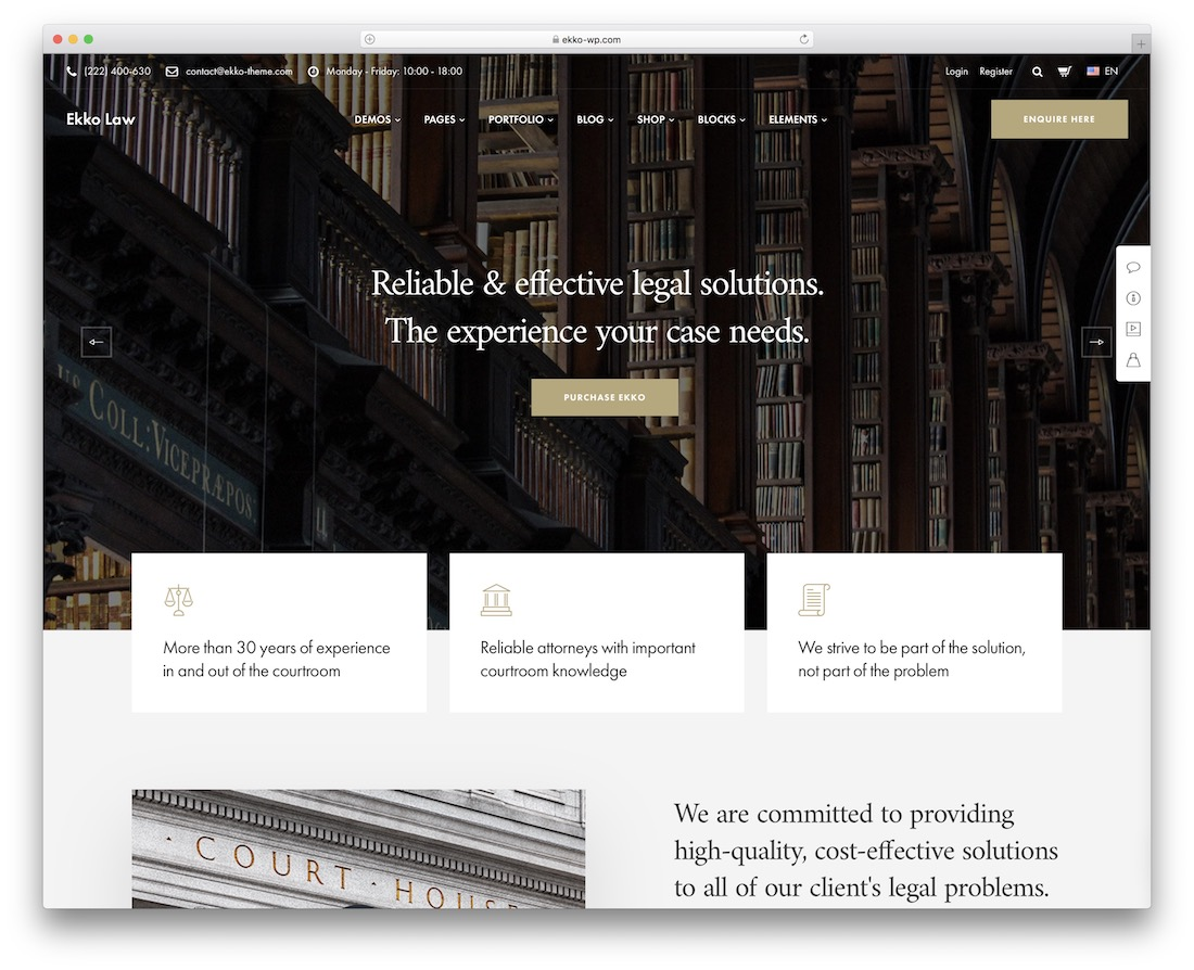 ekko lawyer wordpress theme