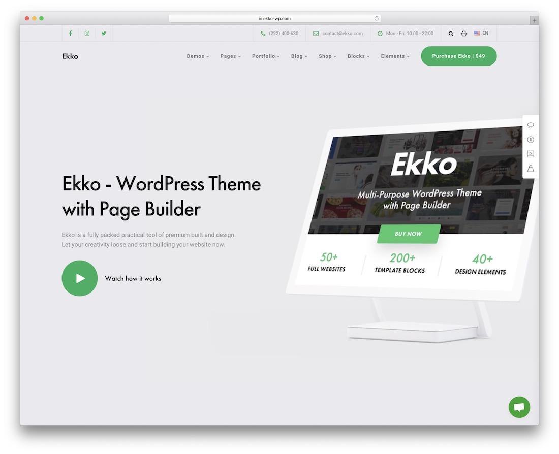 ekko multipurpose wordpress theme