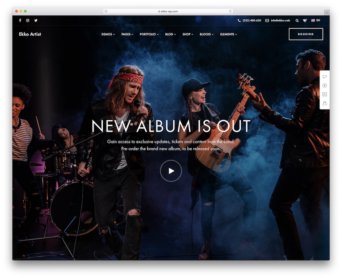 ekko music wordpress theme