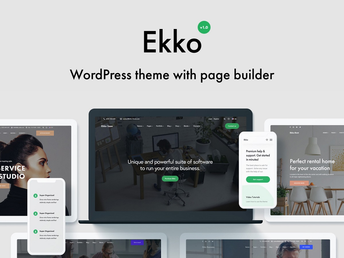 ekko popular wordpress theme
