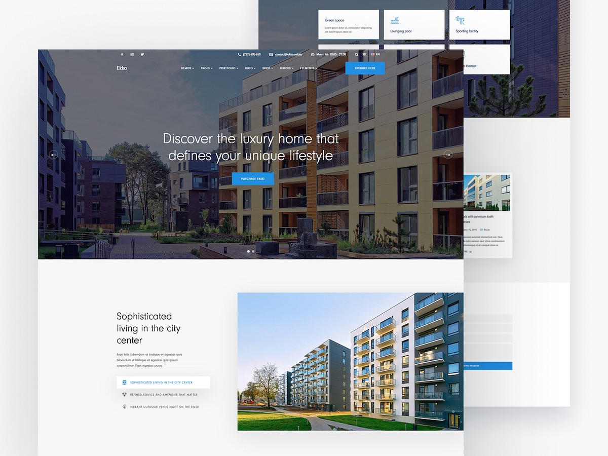ekko real estate wordpress theme