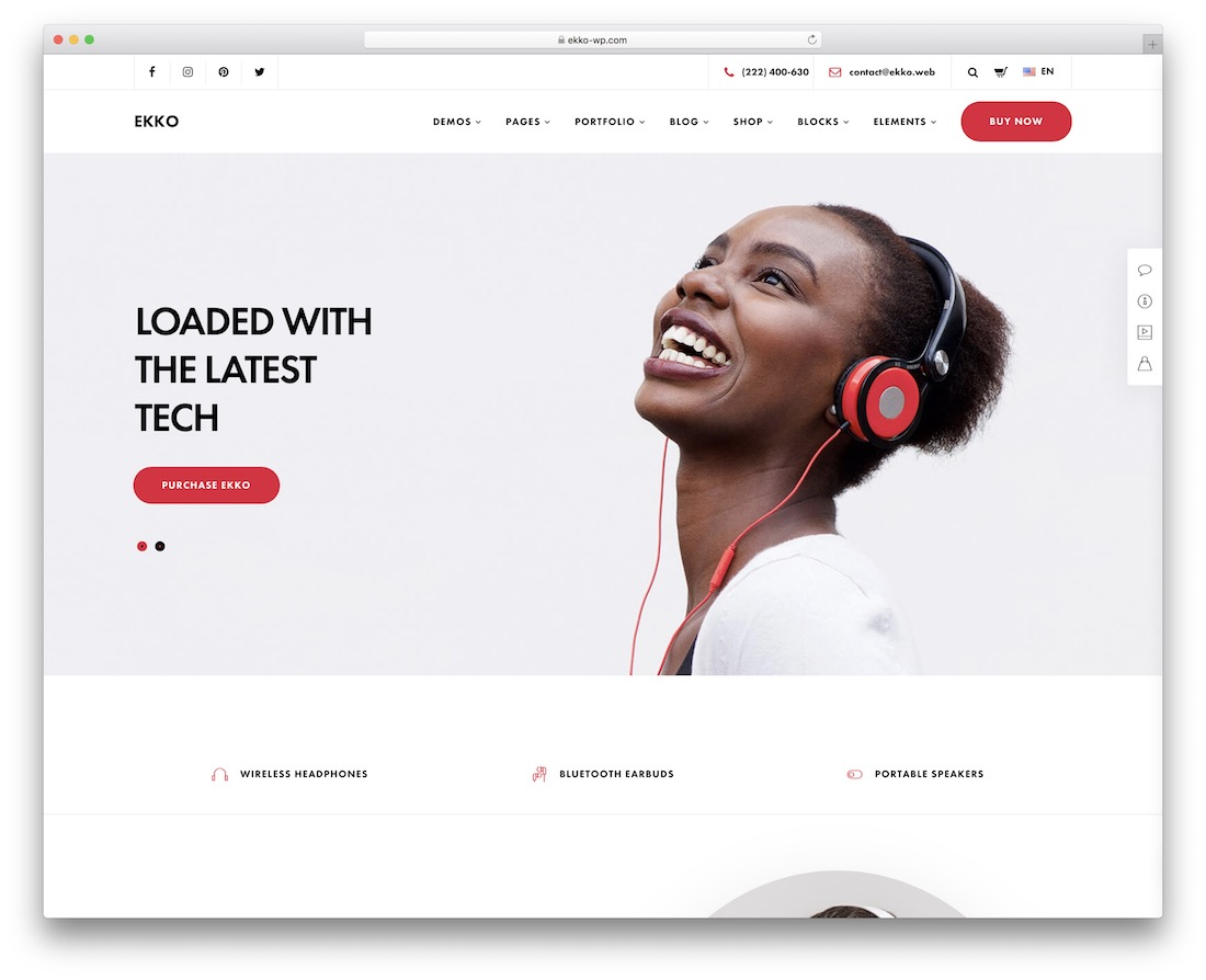 ekko single product wordpress theme