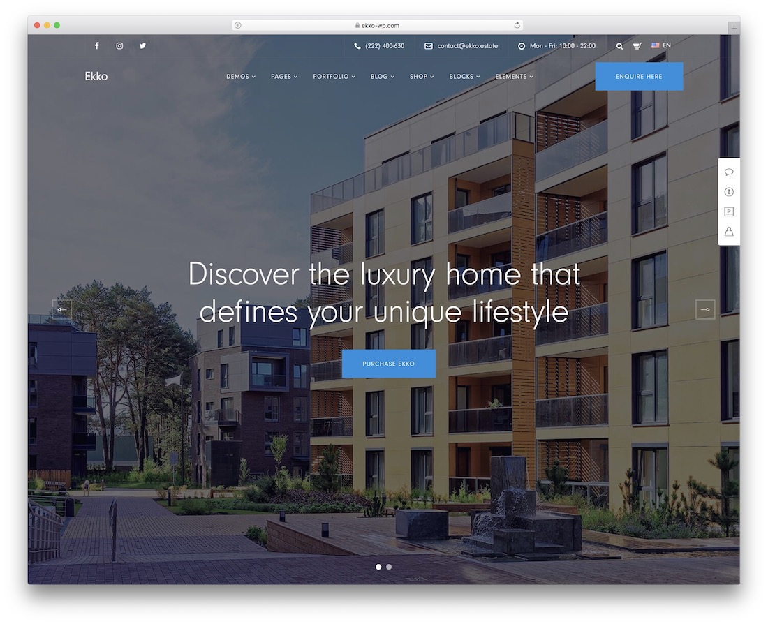 ekko single property wordpress theme