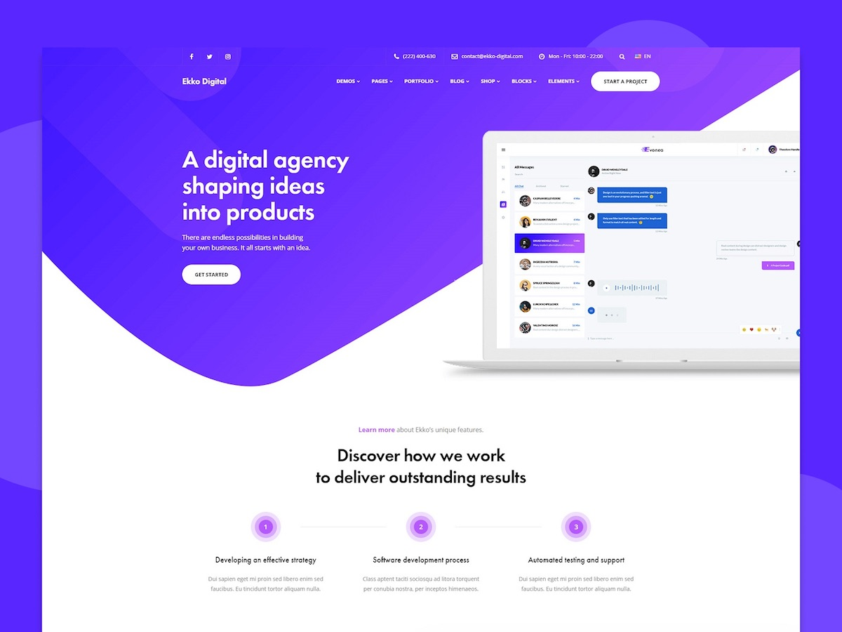 ekko software company theme