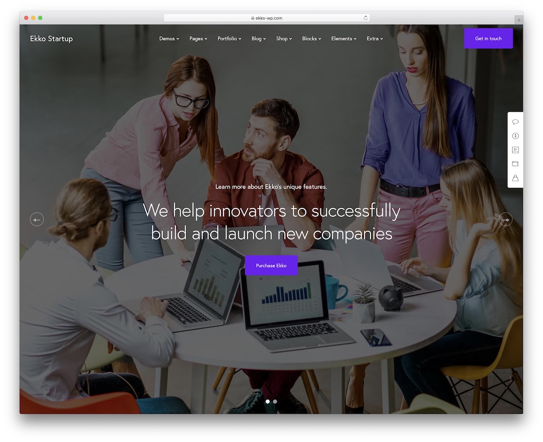 ekko virtual assistant website template
