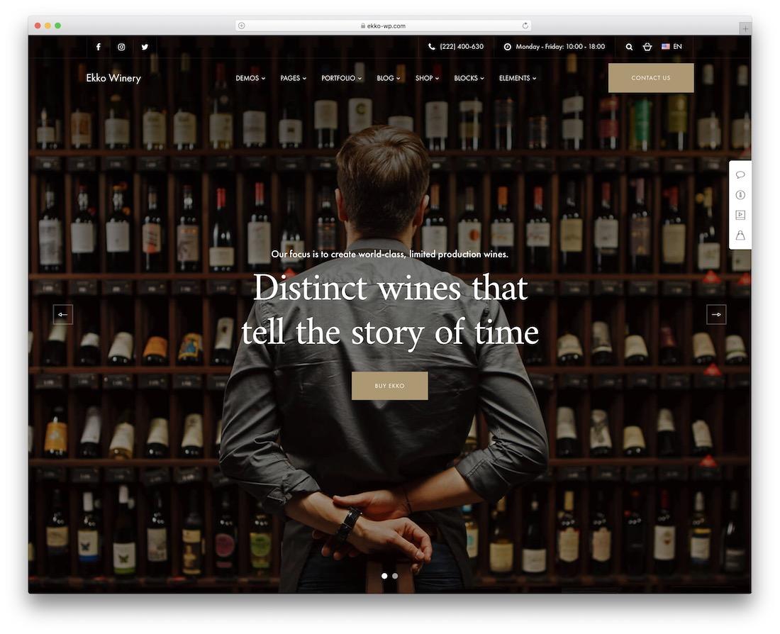 ekko wine shop wordpress theme