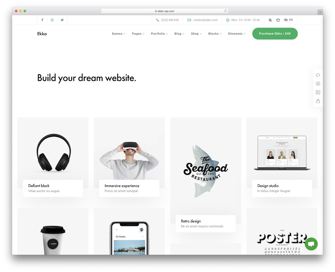 ekko wordpress portfolio theme