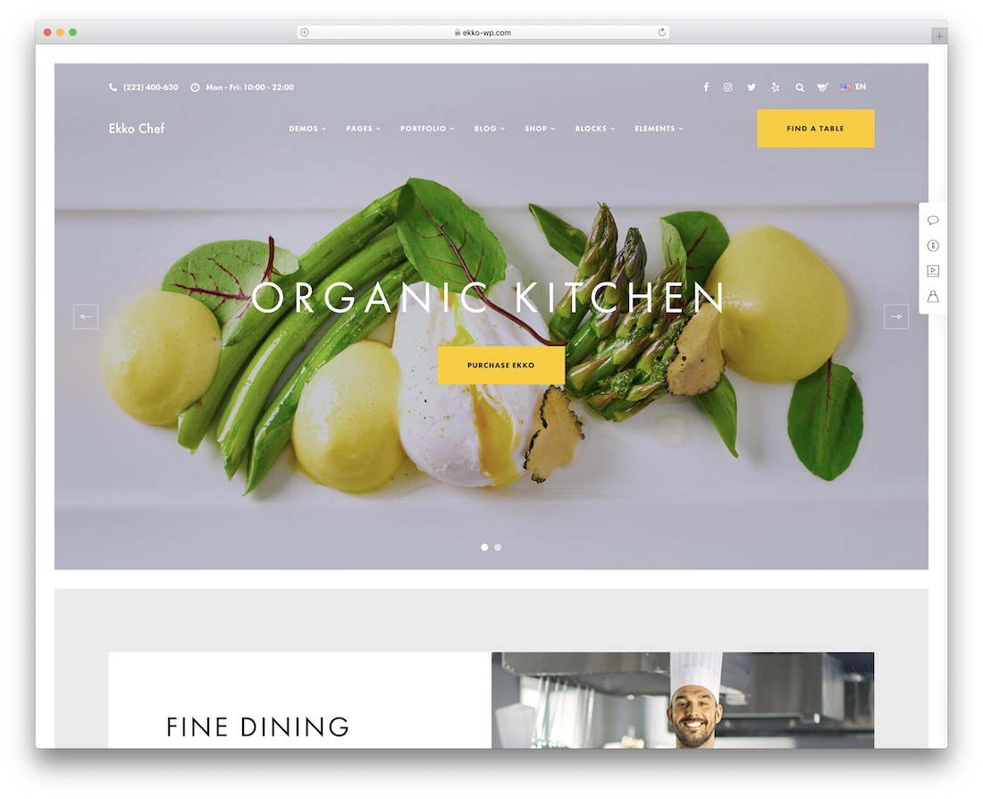 ekko wordpress organic food theme