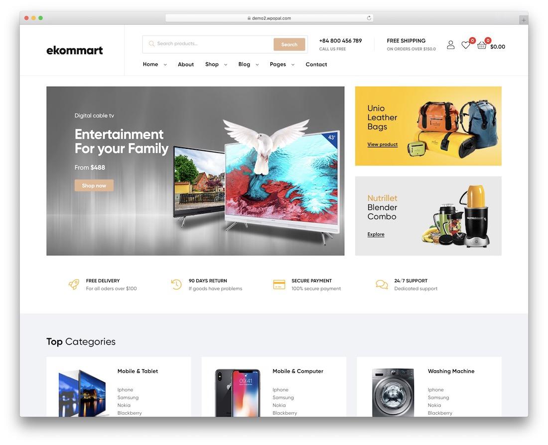 ekommart marketplace wordpress theme
