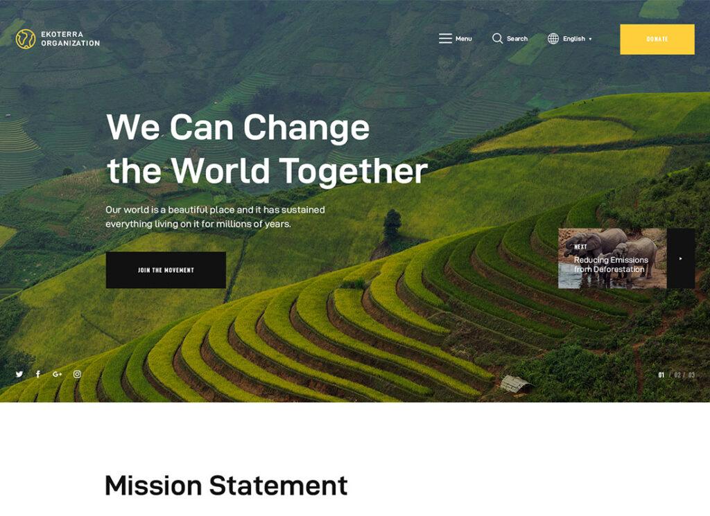Ekoterra | NonProfit & Ecology WordPress Theme