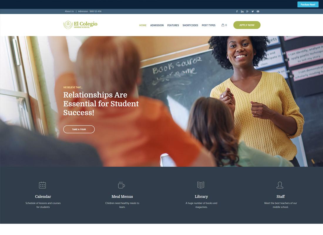 El Colegio | School & Education WordPress Theme with LMS