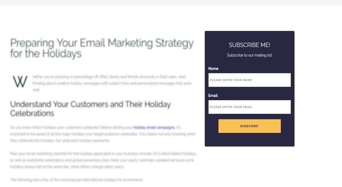 Engaging WordPress Email Subscription Plugins