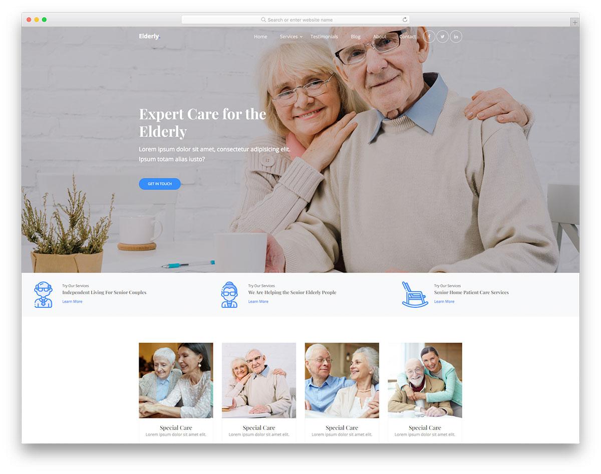Elderly Free Template